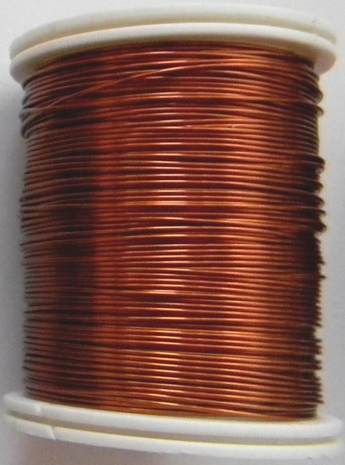 Měděný lakovaný drát 0,6 mm hnědo-zlatý
