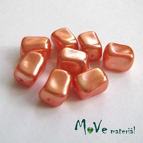 České voskové perle tvarované 10x7x7mm, 8ks, oranž