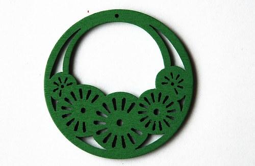 dřevěné kolečko- sv. zelené