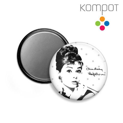 ZRCÁTKO :: Audrey Hepburn - šedé puntíky