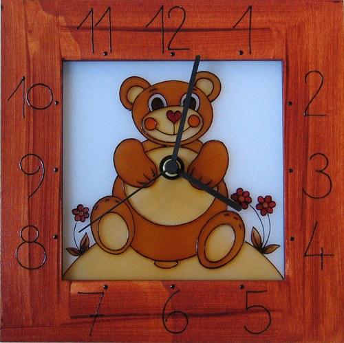 Medvídek - hodiny v rámu 25cm