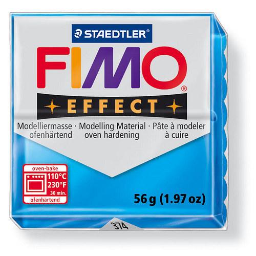 Fimo effect transparentní modrá 374