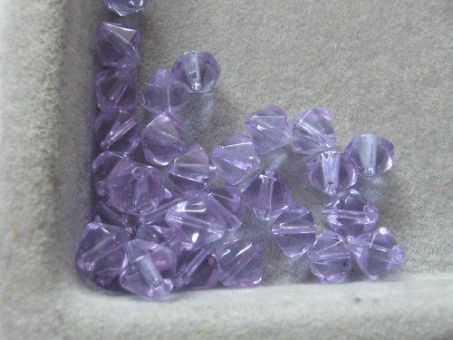 Sluníčka - světle fialová 6 mm / 10 ks