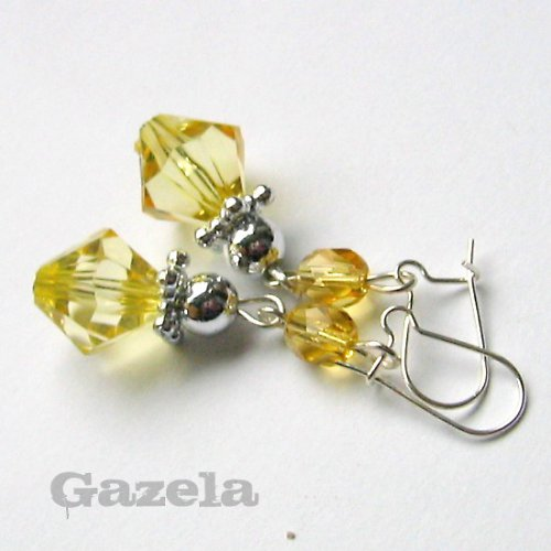 Náušnice Žluté krystaly