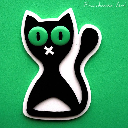 Černo bílá kočka