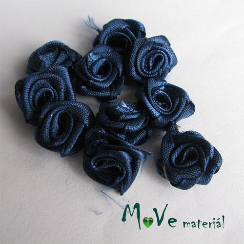 Růžička saténová tm. modrá Ø15mm, 10kusů