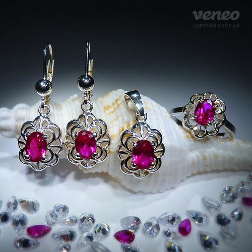 Baroko - sada šperků s rubíny