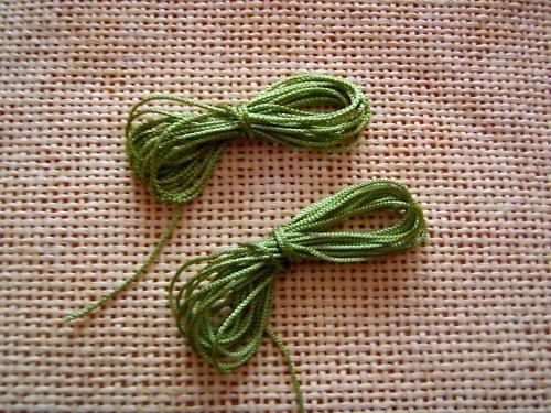Zelená polyesterová šňůrka