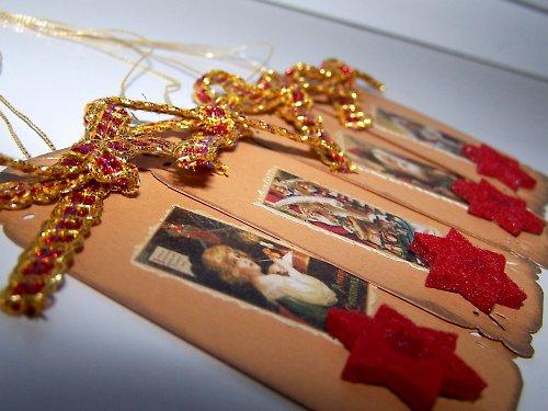 Vintage vánoční visačky II.