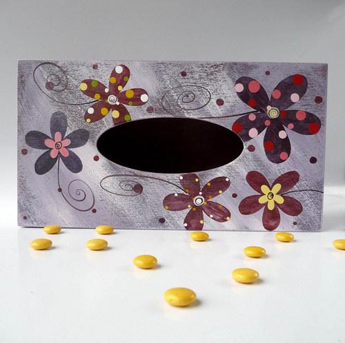 pelíšek pro trpaslíka - fialový s květy