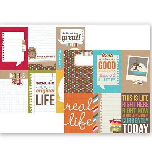 Scrapbookový papír SS /4x6 V/Life Collection cards