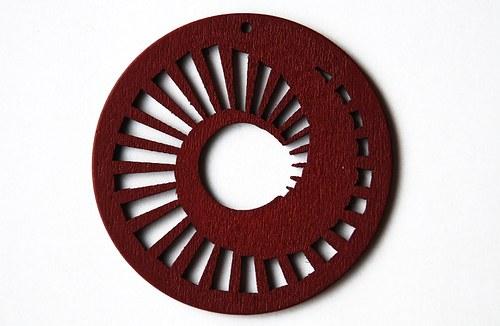 dřevěné kolečko 60 mm- červenohnědé