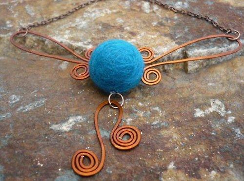 Tyrkysovo modrý náhrdelník