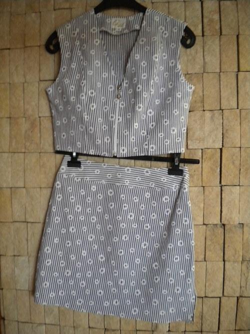 Letní komplet - bolerko s krátkou sukničkou AKCE