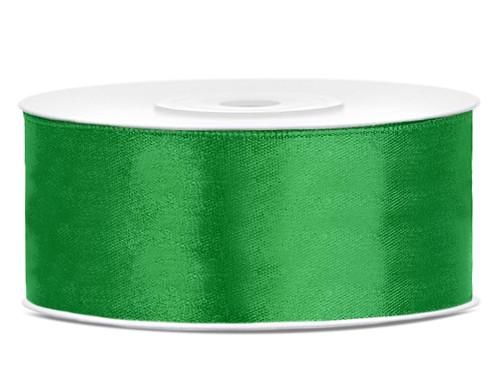 Stuha atlasová 25 mm tmavě zelená, 32bm