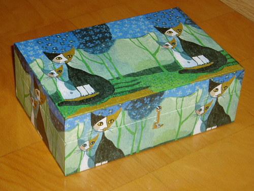 Krabice na čaj - 8 komor - Kočky