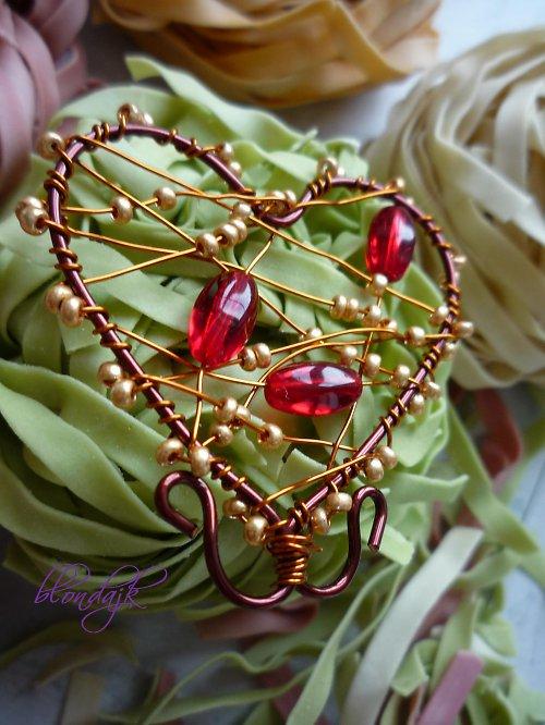Srdíčko červeno-zlaté