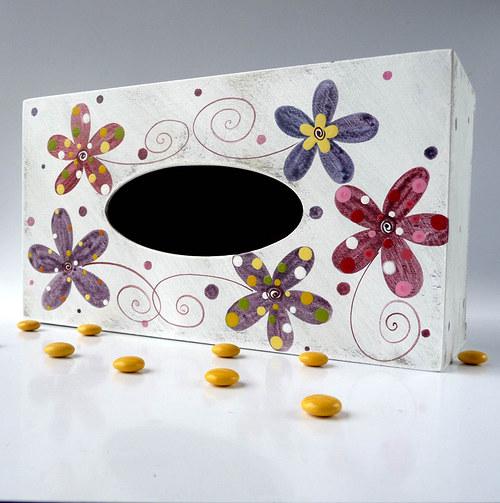 pelíšek pro trpaslíka - bílý s květy