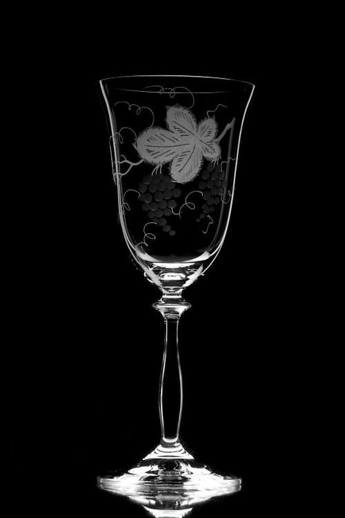 6x sklenice na víno Angela 250 ml- motiv vína