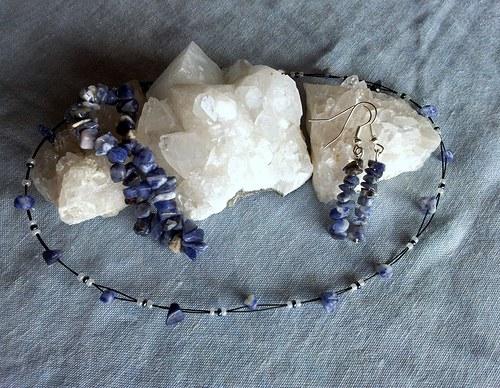 Sada šperků ze sodalitu