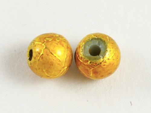 20ks zdobené korálky 6mm