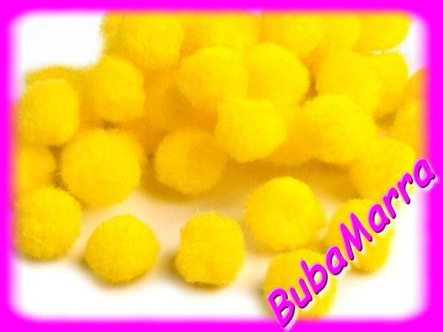 ~ 20ks ~ Bambulky ~ Ø13mm ~ žlutá