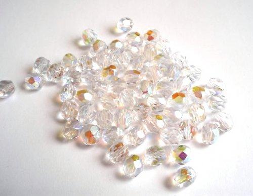 Broušená kulička krystal AB 7mm