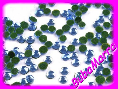 ~100ks~  nažehlovací kameny~ HOT FIX ~  sv. modrá