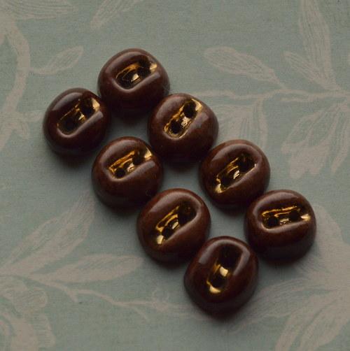Knoflíky vintage - porcelán - 8 ks