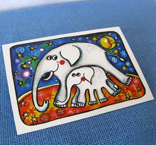 Slonice se slůnětem