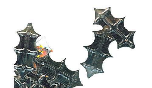 Flitry - stříbrný lístek cesmíny 3 g     =328-124