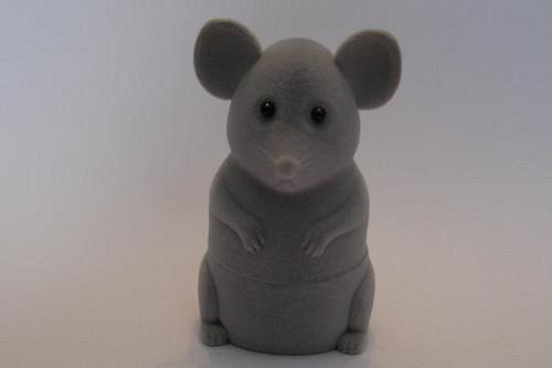 Sametová krabička na šperky - myš