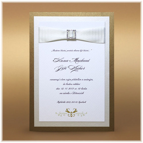 Svatební oznámení s přezkou