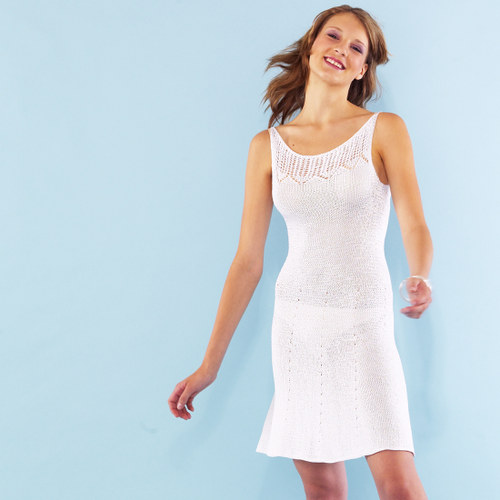 popis - návod na pletené šaty