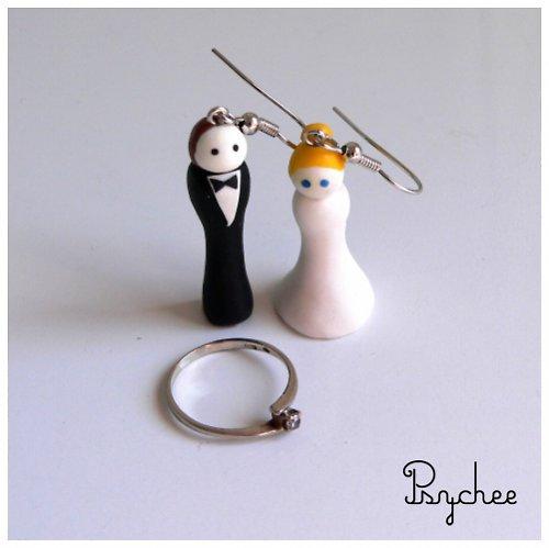 Náušnice pro nevěstu ,o)