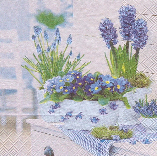 Ubrousek - jaro v modrém (2 ks - AKCE)