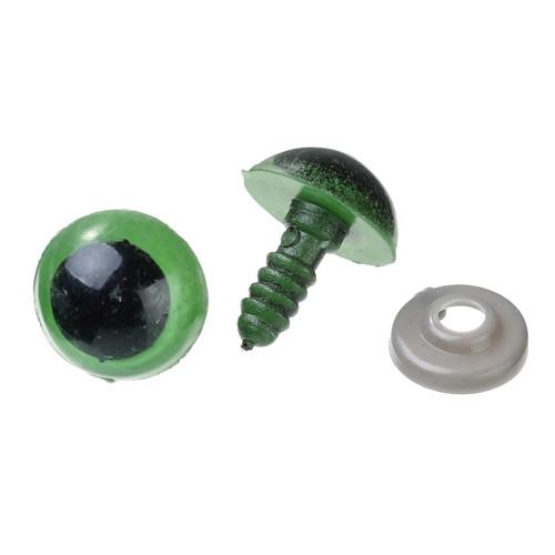 Bezpečnostní oči - zelené 14mm,1 pár