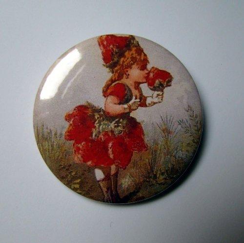DĚVČÁTKO - placka - button - 44 mm
