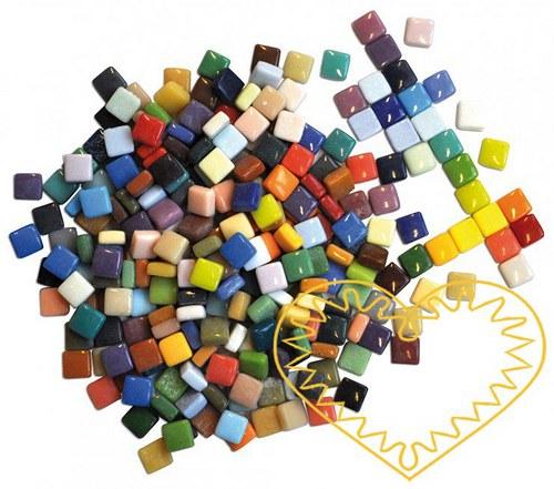 Barevná keramická mozaika 11x11 mm, 300 ks, 570 g