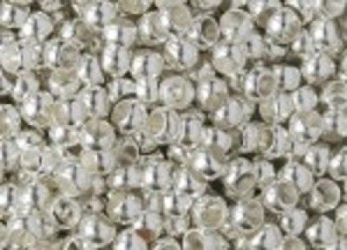 Zamačkávací rocail kulatý 1,5 mm stříbrný