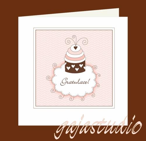 Přání s dortíkem  PR_09