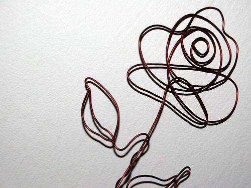 Růžička - drátěná....originál!