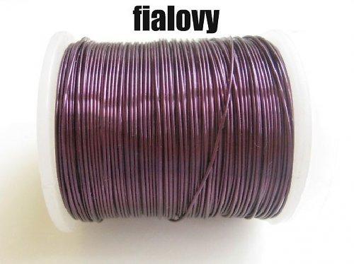Měděný drát - fialový tl.0,3 mm/50m