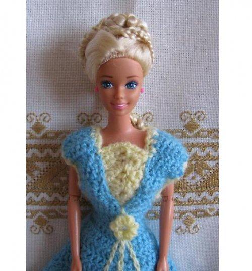 Barbie - modro-žluté šaty