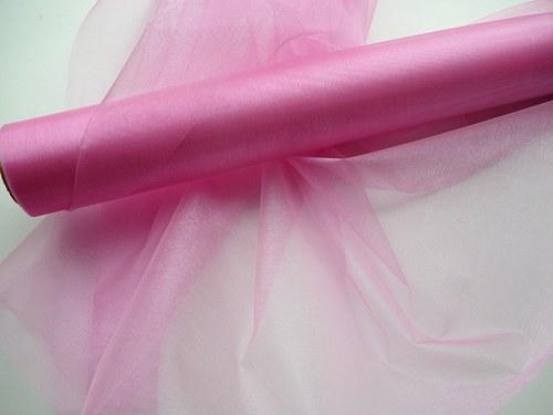 Organza růžová neobroubená (barva č. 6)