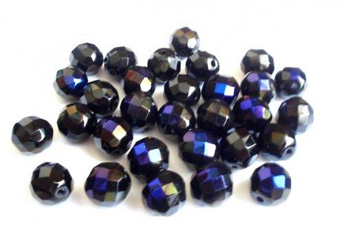 Broušená kulička černá azuro 12mm