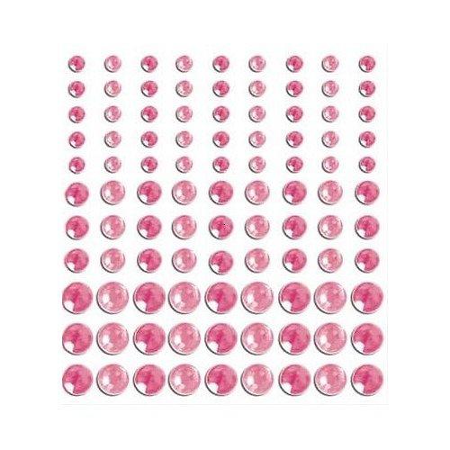 Růžové samolepící kamínky - 2 odstíny