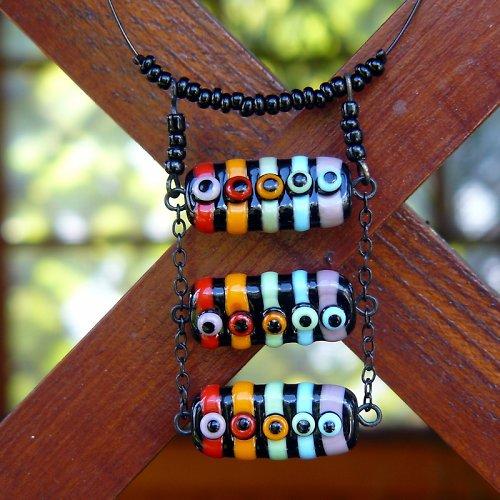 Náhrdelník žebřík - vinuté perle