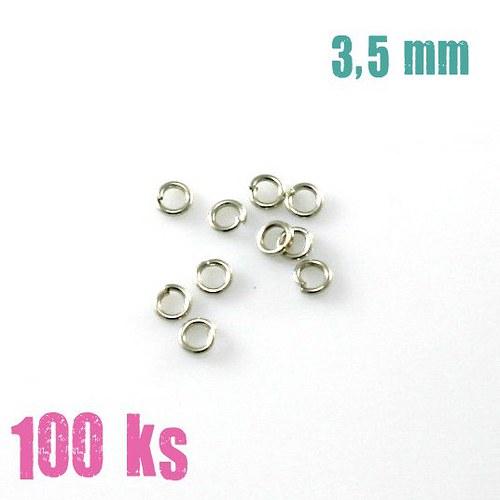 Platinové kroužky 3,5 mm (100 ks)