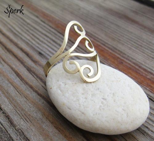 Celozlatý prsten